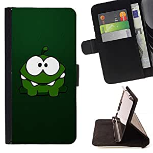 DEVIL CASE - FOR Samsung Galaxy S3 III I9300 - Cute Green Monster - Style PU Leather Case Wallet Flip Stand Flap Closure Cover