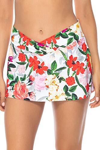 (Sunsets Women's Summer Lovin Swim Skirt Bikini Bottom Swimsuit, Rose Garden, Medium)