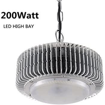 200W LED High Bay Light Warehouse Garage Shop Lighting Fixture ...