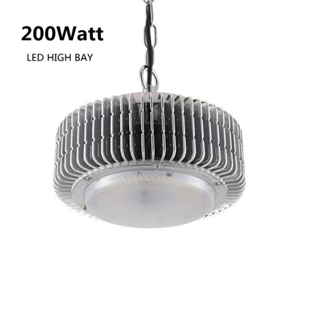 Viugreum LED High Bay Light, 200W 20000LM Hi Bay Light Fixture, Daylight White (6500K), Commercial Hanging Lights Industrial Chandelier for Factory, Workshop, Stadium, Basement Parking
