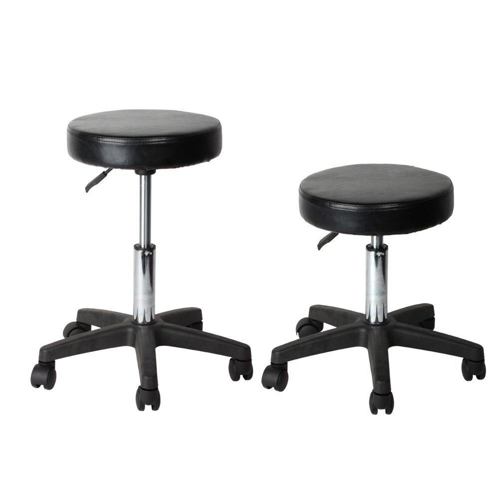 Flexzion Rolling Swivel Stool Pneumatic Work Chair Adjustable Height With Casters Wheel 360 Degree Rotation for Home Office Salon Facial Massage Table by Flexzion (Image #1)