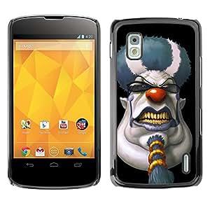 - Clown Evil Joker Pattern - - Fashion Dream Catcher Design Hard Plastic Protective Case Cover FOR LG Nexus 4 E960 Retro Candy