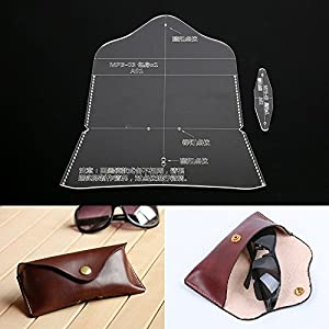 Leather Handcraft Sunglasses Pocket Bag Glasses Case Acrylic Stencil Template
