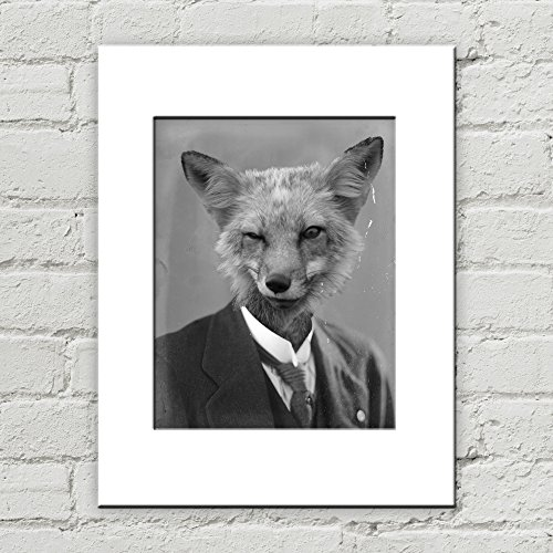 Inanimate Object Costumes (5 x 7 Fox Matted Art Print, Anthropomorphic)