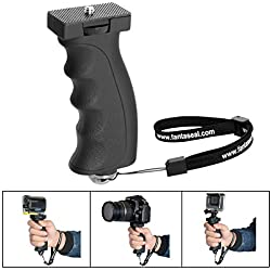 Fantaseal Ergonomic Camera Grip Camcorder Mount DSLR Camera Handheld Stabilizer Handle Support Bracket Hand Video Light Flashlight Handle SelfieStick for Nikon Canon Sony DSLR etc(Improved Version)