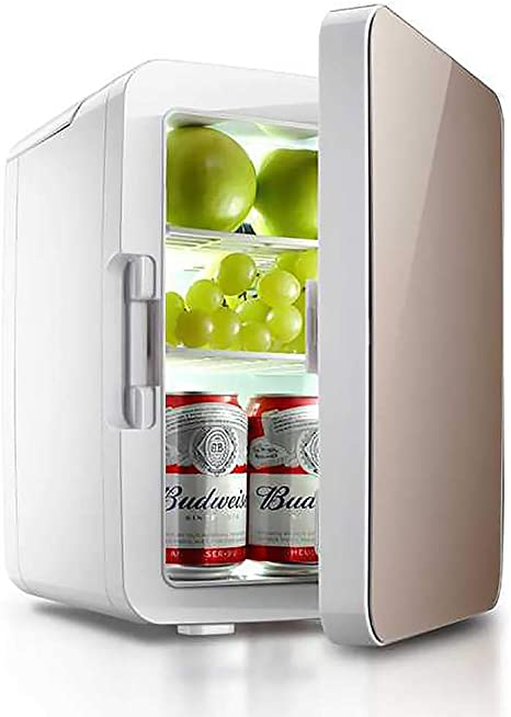 Mini Kühlschrank Tragbarer 10 Liter Kühler Und Wärmer Für Hautpflege Kosmetik Lebensmittel Medikamente Gold Küche Haushalt