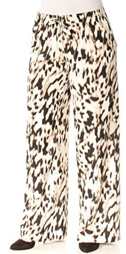 Calvin Klein $79 Womens New 1817 Ivory Printed Wide Leg Casual Pants S B+B