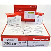 Honeywell Vista 20P Hardwired Kit With a 6160 Keypad, One IS335 Motion Sensor, Three 7939WG Contacts, and a Wave2 Siren
