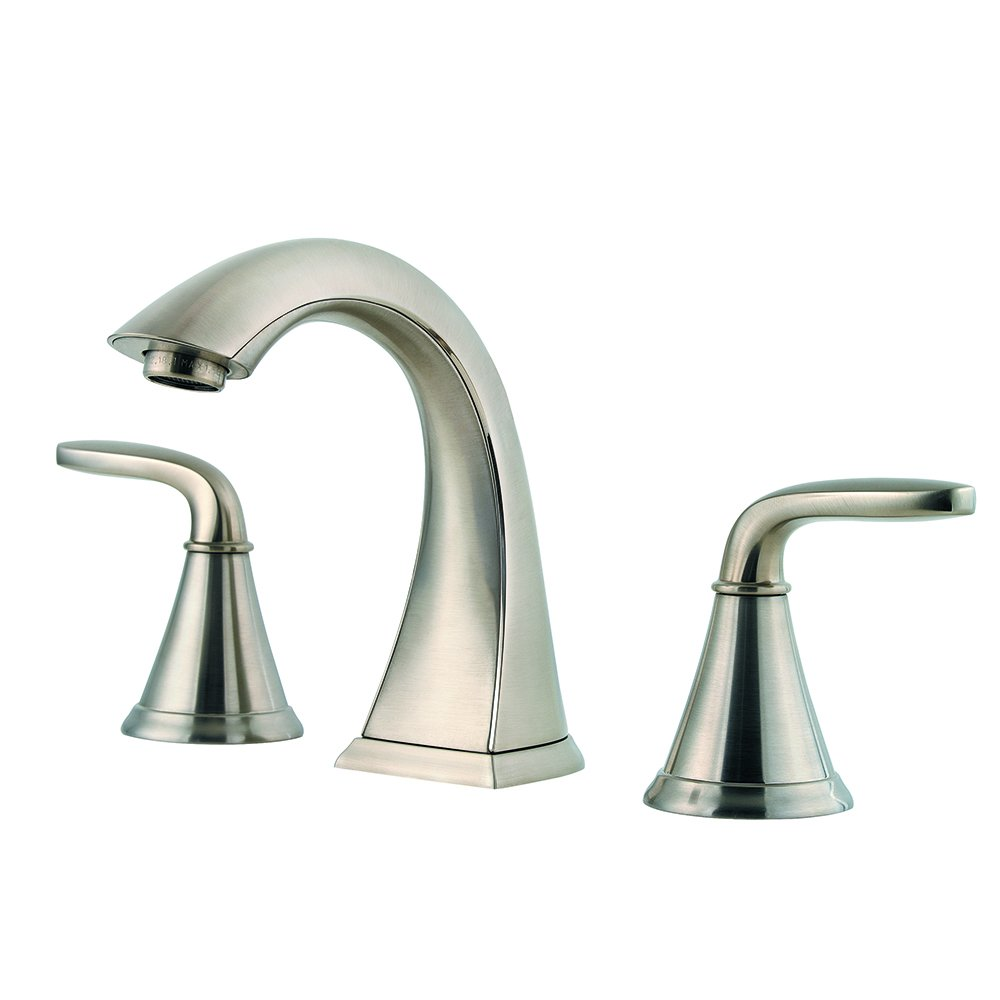 Pfister LF049PDKK Pasadena 2 Handle 8 Inch Widespread Bathroom Faucet in Brushed Nickel