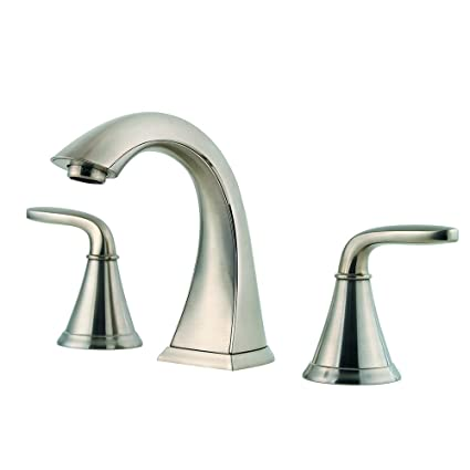 Fine Pfister Lf049Pdkk Pasadena 2 Handle 8 Inch Widespread Bathroom Faucet In Brushed Nickel Home Interior And Landscaping Mentranervesignezvosmurscom