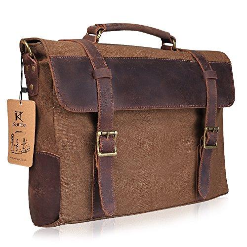 Kattee Vintage - Bolso al hombro para hombre, color marrón y café café