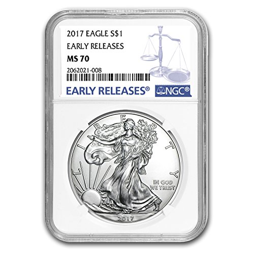 2017 Silver American Eagle MS-70 NGC (Early Releases) 1 OZ MS-70 NGC