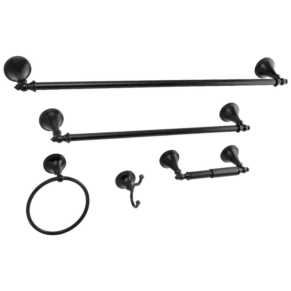 Kingston Brass BAHK1612478K Bathroom Hardware Combo, Black