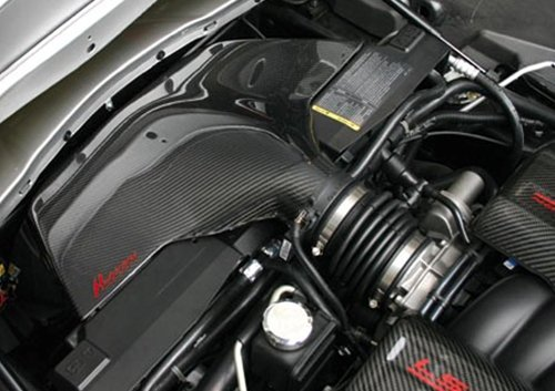 Corvette Hurricane Air Intake System : C6 LS2 Black