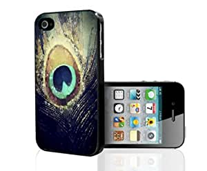 Colorful Peacock Feather Hard Snap on Phone Case (iPhone 4/4s)