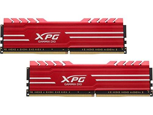 XPG Gammix D10 2666MHz (PC4 21300) 16G (2 x 8GB) Memory Module Kit Red (AX4U266638G16-DRG)