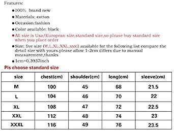 3D men's printing Skull rock style fashion Effect T-Shir L52 Black M