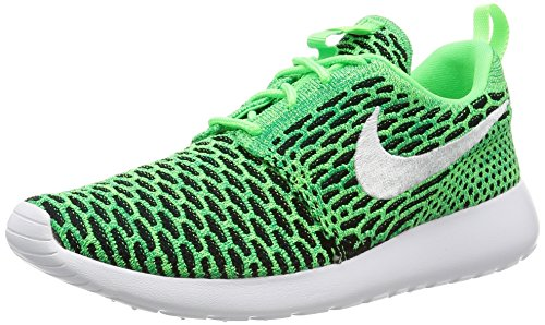 NIKE Damen Women's Roshe One Flyknit Shoe Turnschuhe, Grün Grün (Voltage Green / White Lucid Green)