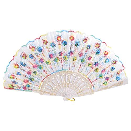 UPC 711331726315, Lady Sequins Accent Handle Folding Portable Hand Fan Multicolor