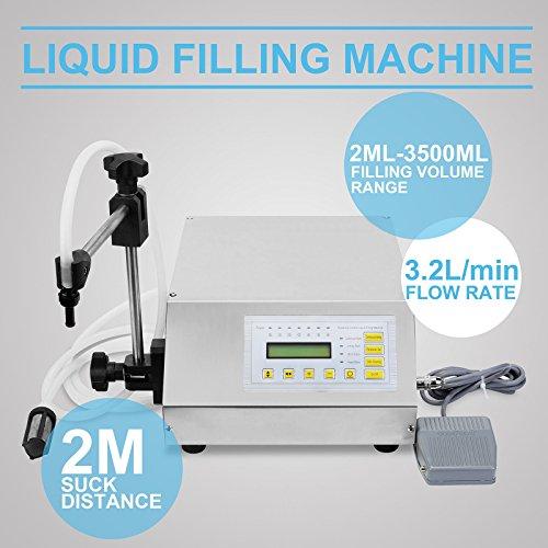 VEVOR Bottle Filling Machine 5-50ml Liquid Filling Machine Stainless Steel Filling Machine for Cream Shampoo Cosmetic Bottler Filler (5-50mL Manual Filling) by VEVOR (Image #8)