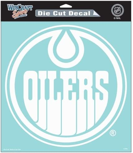 Edmonton Oilers Official NHL 8x8 Die Cut Car Decal by Wincraft