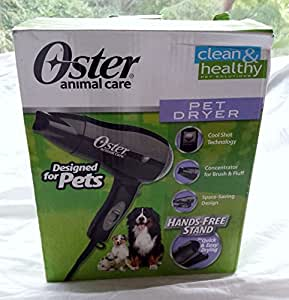 Oster Pet Dog Animal Hair fur Dryer Veterinarian with Cool Shot Button & Hands Free Stand