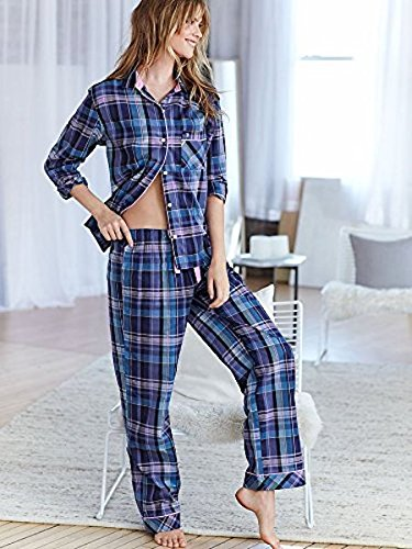 Victorias Secret Dreamer Flannel Modal Pajamas Pants (Large)