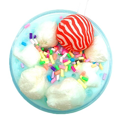 Solvang Cute DIY Jelly Cube Slime Stress Relief Toy Scented Sludge Toy for Kids and Adults (Lollipop Random)