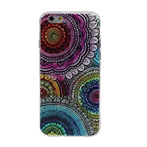 ABC? 2015, Fashion Colorful Totem Flower TPU Silicone Case Cover For iPhone 6 Plus 5.5