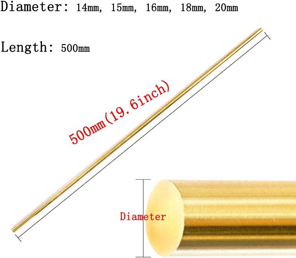 YHcXm Barra de Varilla Redonda de latón Herramienta de Corte de Torno sólido Varillas de Metal,Diameter 20mm: Amazon.es: Hogar