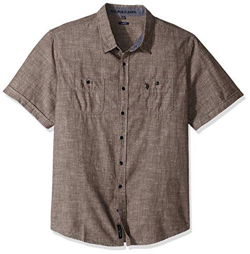 U.S. Polo Assn. Mens Slim Fit Short Sleeve Sport Shirt