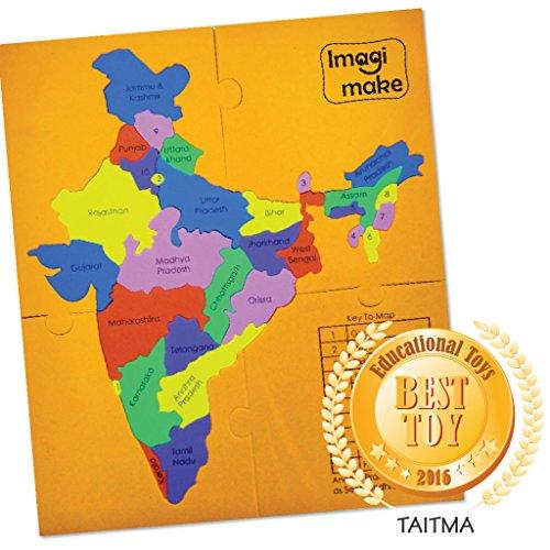 Imagimake Mapology : States of India Map - World Map Foam Puzzle
