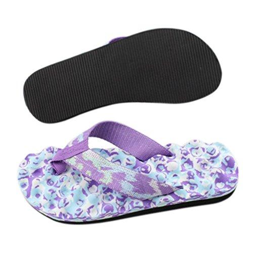 Damen Zehentrenner, Yogogo Camouflage Flip Flops Schuhe Sandalen Innen Outdoor Slipper (39, lila)