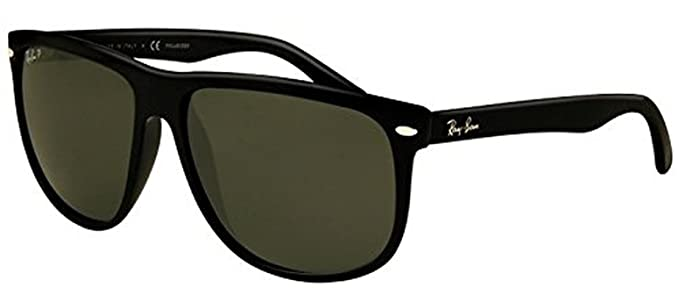 a9e8ee080b9 Ray-Ban RB 4147 Sunglasses Black Crystal Green Polarized 60mm   HDO  Cleaning Carekit