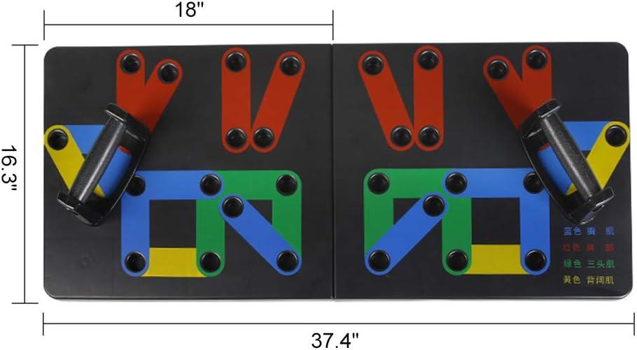 AGKupel Push-up-Brett Faltbare Push Up Rack Board mit Handgriff f/ür Muskeltraining Effektiv Formen Farbcodiertes Liegest/ützbrett f/ür Heimtraining