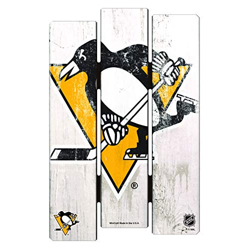 Wincraft NHL Pittsburgh Penguins Sports Fan Home Decor, Team Color, 11x17