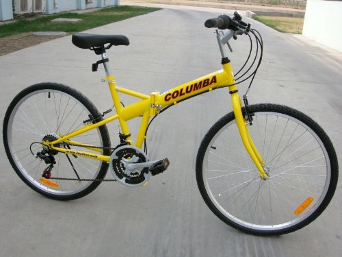 "Columba 26"" Folding Bike w. Shimano 18 Speed Yellow (SP26S_YLW)"