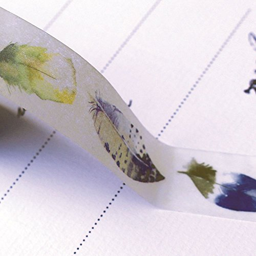 Feather Washi Masking Craft Tape 7m x 1.5cm ()