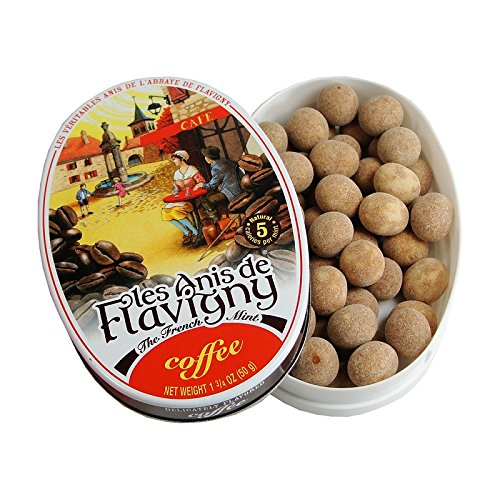 Anise Candy Recipe - Coffee - Abbaye de Flavigny Tin Anise drops all natural 1.8 oz, One