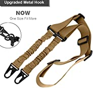 Tactical 2 Point Gun Sling Rifle with Adjustable Slings Cord Shoulder Strap Two Point Military Army Heavy Duty