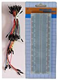 TEKTRUM SOLDERLESS EXPERIMENT PLUG-IN BREADBOARD KIT WITH JUMPER WIRES FOR PROTO-TYPING (830 TIE-POINTS)