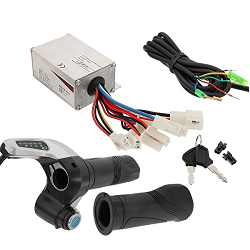 24V 500W Motor Brush Speed Controller& Electric Bike Scooter Throttle Twist Grip by scooter