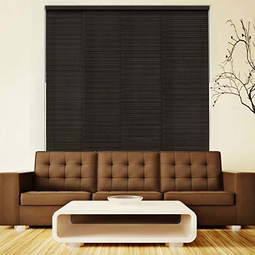 Chicology Deluxe Adjustable Sliding Panel, Signature - Natural Woven, Privacy, 80