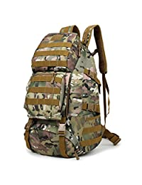 Huntvp Military Tactical Backpack Rucksack Gear Assault Pack Student School Bag with USB Port (Italian Camouflage)