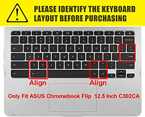 ASUS Chromebook C423NA 14 Keyboard Cover Design for 2019 2018 ASUS Chromebook Flip C302 C302CA-DH54 C302CA-DHM4 12.5 Chromebook Rainbow ASUS Chromebook C523NA 15.6