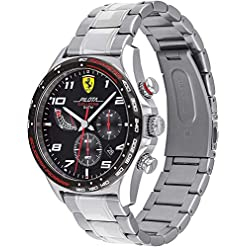 Scuderia Ferrari Homme Chronographe Quartz Montre avec Bracelet en Acier Inoxydable 830720 5
