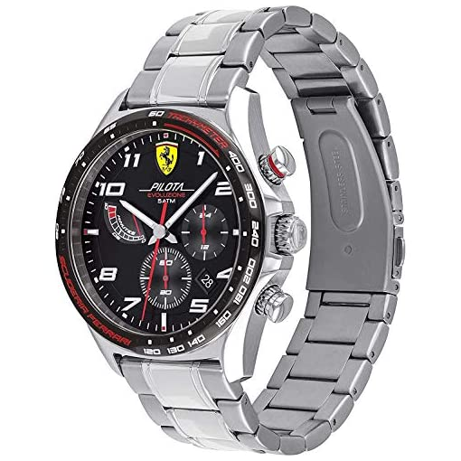 Scuderia Ferrari Homme Chronographe Quartz Montre avec Bracelet en Acier Inoxydable 830720 2