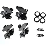 4R Bass Guitar Tuning Pegs Bass Vintage Opened Machine Heads Black