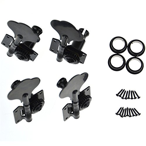 4R Bass Guitar Tuning Pegs Bass Vintage Opened Machine Heads Black from Guitar Tuning Peg