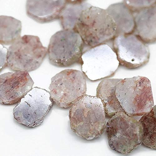 Beads Bazar Natural Beautiful jewellery Natural Silverite Smooth Slice Uneven Rough Hammered Loose Craft Beads Strand 8